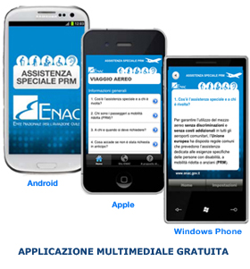 App gratuita Enac PRM sui dispositivi: Android, Apple e Windows Phone