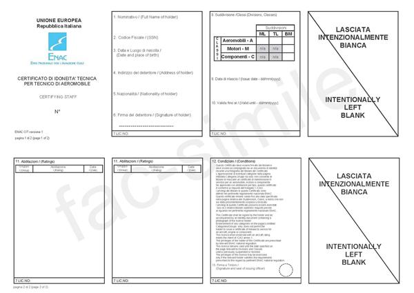 T Tecnica Idoneità I Il Certificato C di QrChstd