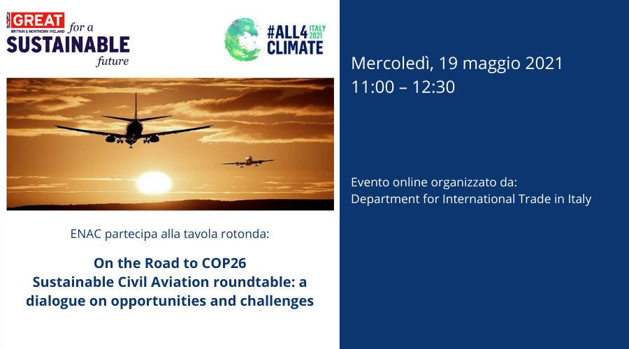 "Tavola rotonda ""Sustainable Civil Aviation roundtable: a dialogue on challenges and opportunities"""