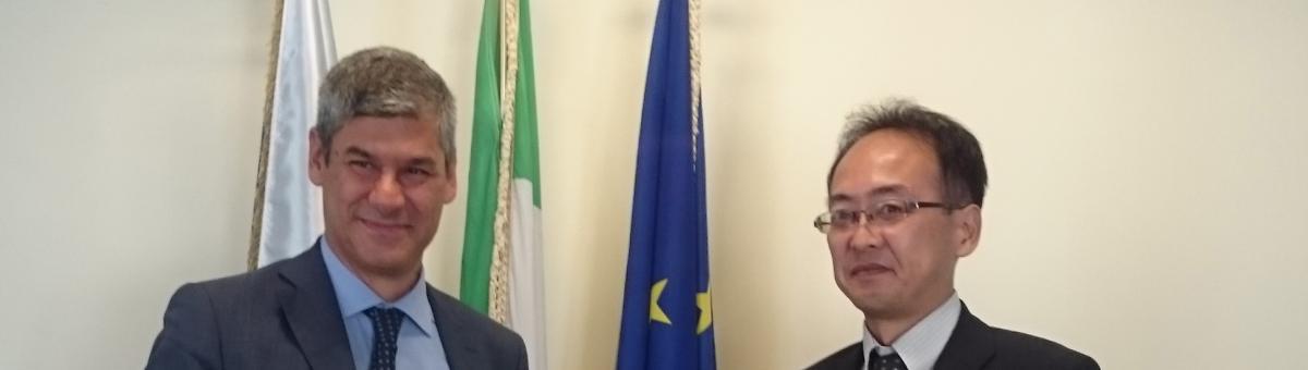 Firma accordo Italia - Giappone