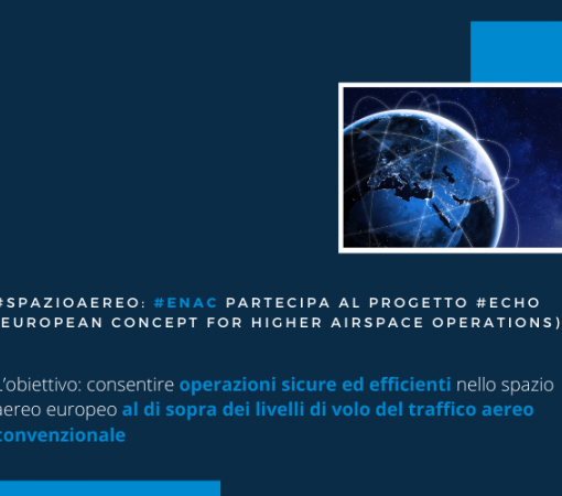 ENAC tra i partner del progetto ECHO - European concept for higher airspace operations